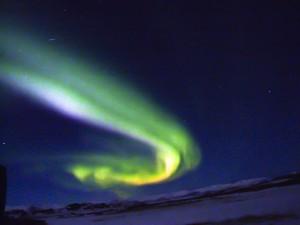 Aurora borealis (Nordlicht), Licht-Sinfonien am Winterhimmel, ©Sabine Burger, Alexander Schwarz, Island - Iceland 2008 03