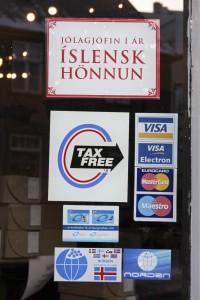 Hier kann man Tax-Free einkaufen. ©Sabine Burger, Alexander Schwarz, Island - Iceland 2009 02
