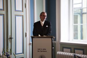 Der Schauspieler Ingvar Eggert Sigurðsson liest am Nationalfeiertag Texte von Jón Sigurðsson im Alþingi, dem isländischen Parlament. ©Sabine Burger, Alexander Schwarz