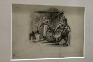 Stúfur, der Kurze, auf der Originalzeichnung von Tryggvi Magnússon für das Buch Jólin koma, ©Sabine Burger, Alexander Schwarz, 2012-12-11__MG_6563_00038