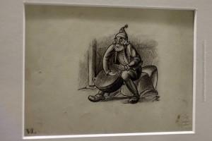 Pottasleikir, der Kesselkratzer, auf der Originalzeichnung von Tryggvi Magnússon für das Buch Jólin koma von Jóhannes úr Kötlum, ©Sabine Burger, Alexander Schwarz, 2012-12-11__MG_6566_00040