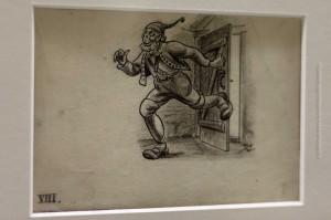 Der Türentreter (Hurðaskellir) auf der Originalzeichnung von Tryggvi Magnússon für das Buch von Jóhannes úr Kötlum: Jólin koma, ©Sabine Burger, Alexander Schwarz, 2012-12-11__MG_6570_00042