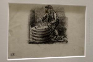Skyrgámur, der Skyrschlund, wie ihn Tryggvi Magnússon zeichnete. ©Sabine Burger, Alexander Schwarz, 2012-12-11__MG_6573_00043