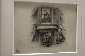Au Backe, Fensterglotzer treibt sein Unwesen! Zeichnung von Tryggvi Magnússon, ©Sabine Burger, Alexander Schwarz, 2012-12-11__MG_6577_00045