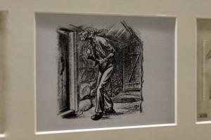 Gáttaþefur, der Türschlitzschnüffler, auf der Originalzeichnung von Tryggvi Magnússon für das Buch Jólin koma von Jóhannes úr Kötlum, ©Sabine Burger, Alexander Schwarz, 2012-12-11__MG_6579_00046