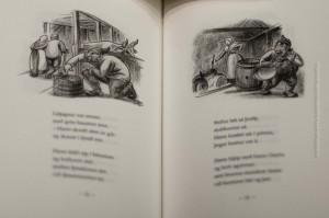Eine Doppelseite aus Jólin koma von Jóhannes úr Kötlum – seit 80 Jahren unverändert, ©Sabine Burger, Alexander Schwarz, 2012-12-11__MG_6644_00035