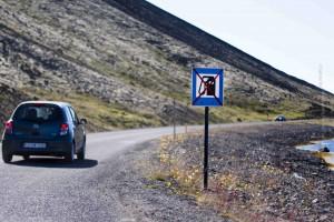 Meist gibt es keine Vorwarnung wie hier in den Westfjorden auf dem Weg zum westlichsten Punkt Europas, dem Látrabjerg. ©Sabine Burger, Alexander Schwarz, 2013-07-31__MG_7590_00057