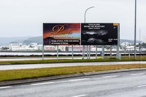 Billboard zur Harpa-Ausstellung, ©Sabine Burger, Alexander Schwarz, 2013-08-23__MG_0662_00001