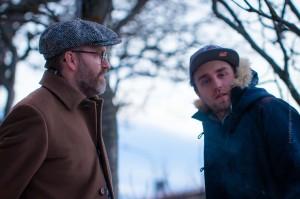 Der älteste, Ómar Guðjónsson (li) und jüngste, Magnús Trygvason Elíassen der AdHd-Bandmitglieder, ©Sabine Burger, Alexander Schwarz, 2014-01-03__MG_2009_00019