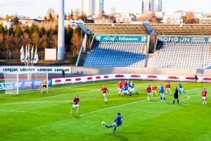 Im Laugardalsvöllur werden während der Saison auch jede Woche Ligaspiele ausgetragen. ©Sabine Burger, Alexander Schwarz, 2012-05-07__MG_7720_00007