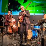 Andrés Þór Quartet – Andrés Þór Gunnlaugsson (g), Agnar Már Magnússon (p), Richard Andersson (b), Scott McLemore (dr), ©Sabine Burger, Alexander Schwarz, 2016-08-11_L1010030_00025