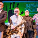 Einar Scheving Quartet: Einar Scheving (d, p), Eyþór Gunnarsson (p), Óskar Guðjónsson (s), Skúli Sverrisson (b), ©Sabine Burger, Alexander Schwarz, 2016-08-11_L1010513_00185