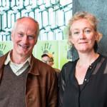 Julia Hülsmann nach dem Konzert mit dem Botschafter der Bundesrepublik Deutschland, Herbert Beck, ©Sabine Burger, Alexander Schwarz, 2016-08-12_L1010704_00095